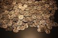 Münzen Antik Römisch Archäologie Stock