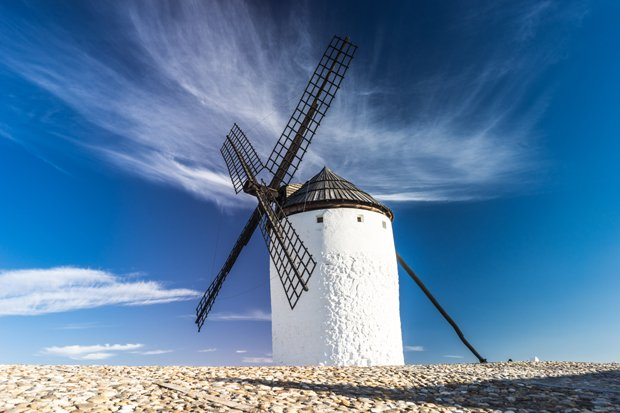 Windmühle Stock