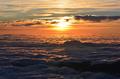 Wolken Himmel Sonne Horizont  Stock
