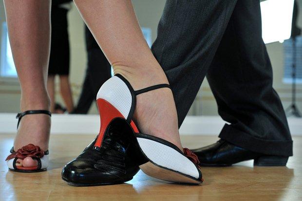 Tanzen Salsa Tango Stock
