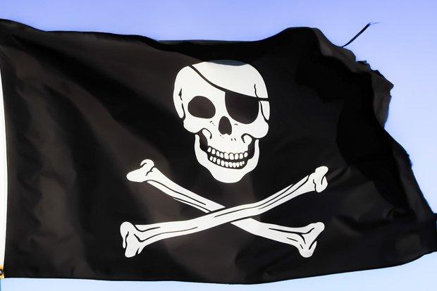 Piraten Piratenflagge Pirat Totenkopf Stock