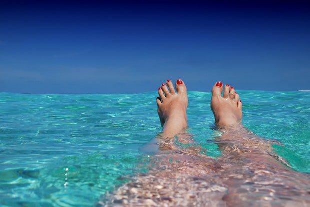 Urlaub Meer Wasser Stock