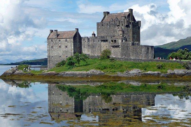Schottland Burg Mittelalter Highlands Stock