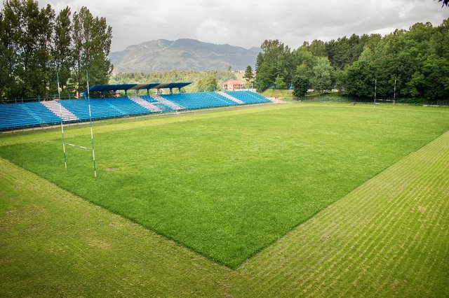 Rugby Stadion Stock