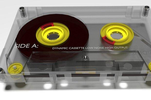 80er Kassette Tape Musik Stock