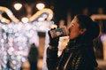 Glühwein Weihnachten Stock