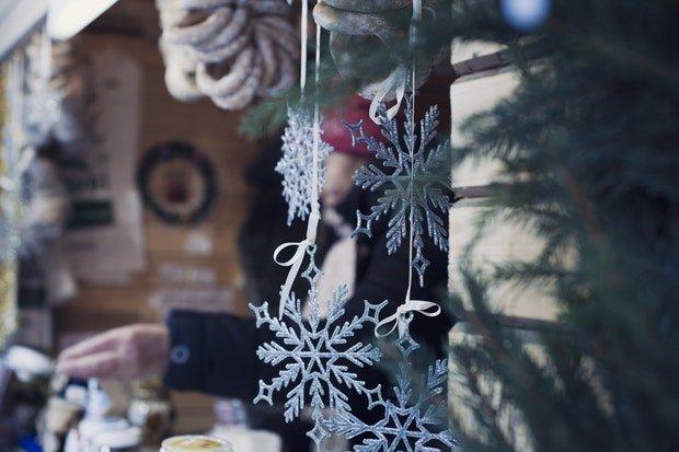Weihnachtsmarkt Weihnachten Stock
