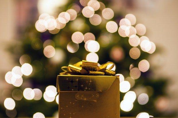 Geschenke Weihnachten Stock
