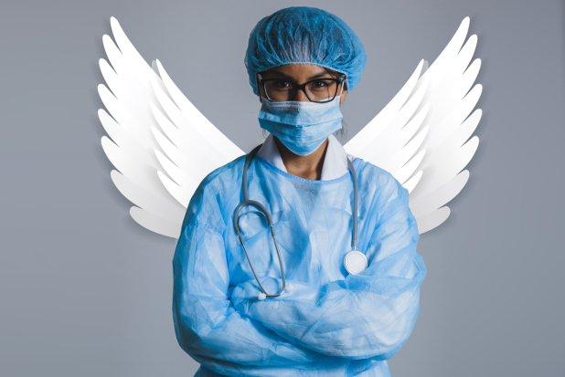 Arzt Engel Stock