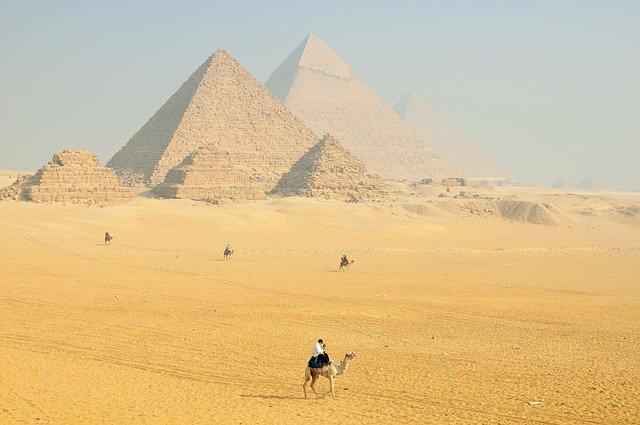 Pyramide Grab Ägypten Stock