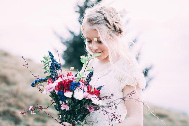 Blumenmädchen Stock