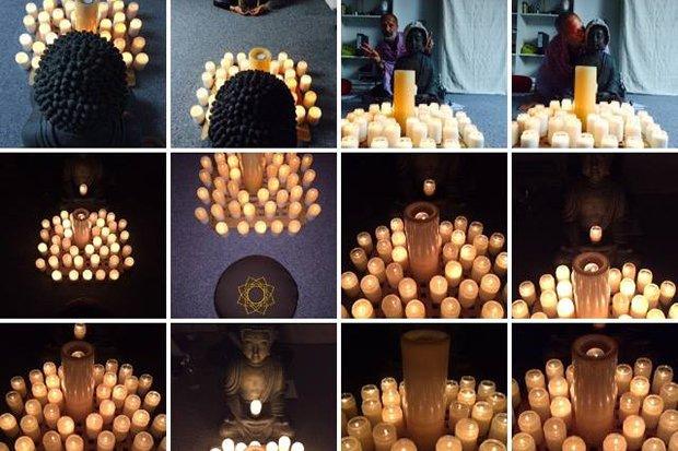 Kerzenlicht Meditation Yogalounge