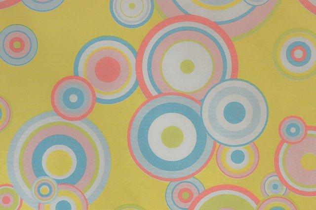 70er Muster Kreise Hippie Stock