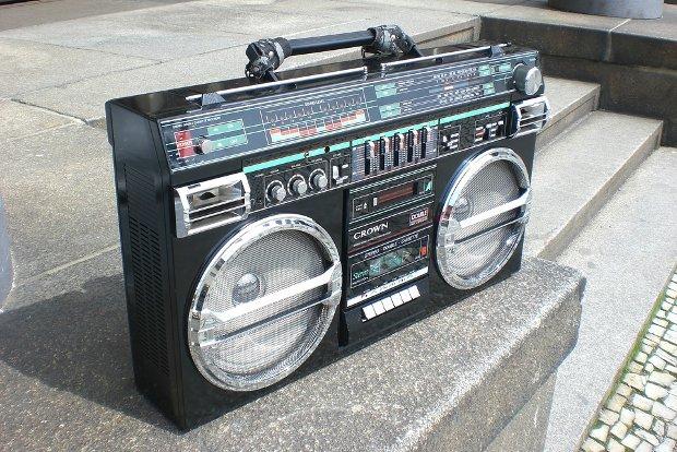 Ghettoblaster Recorder Stock