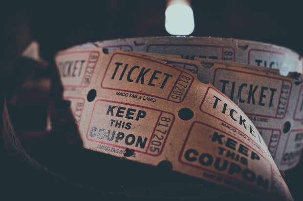 Tickets Circus Kino Stock