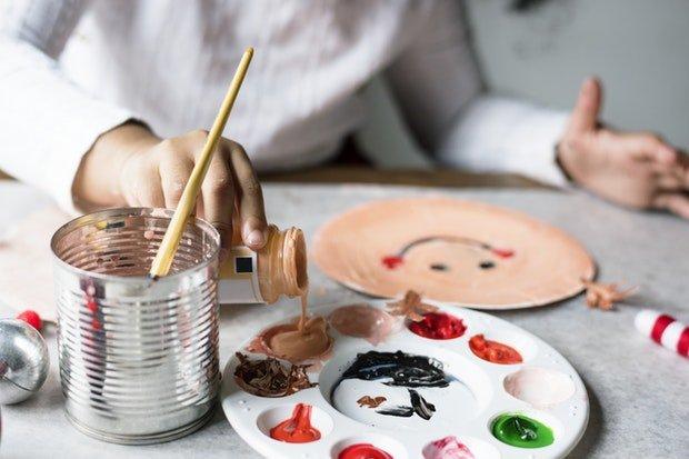 Basteln Malen Kinder Stock