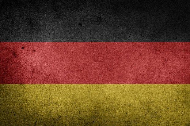 Deutschland Flagge Stock