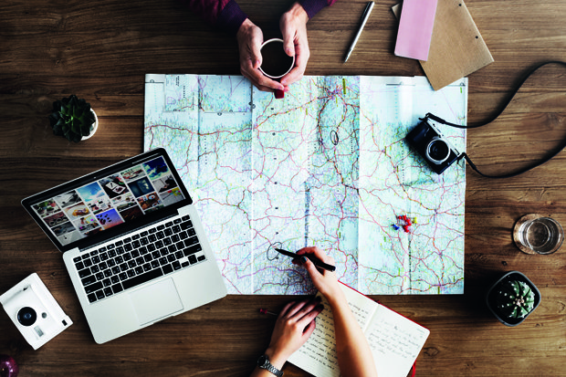 Urlaub und Reisen stock