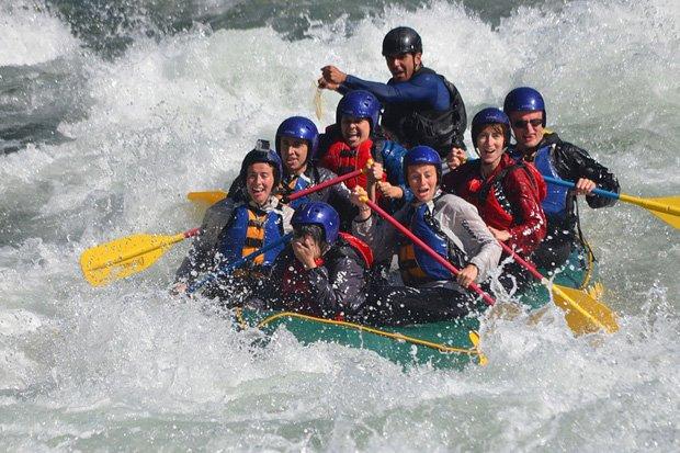 Schlauchboot Rafting Stock
