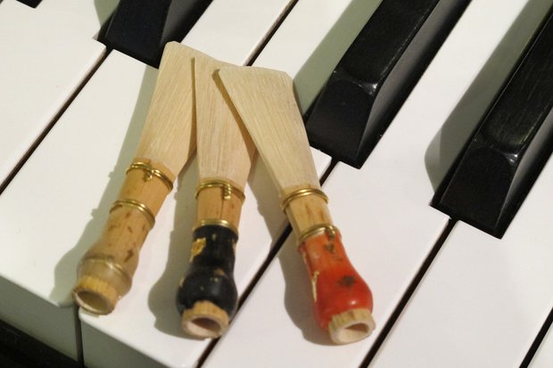 Fagott Klavier stock