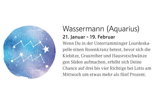 Horoskop Wassermann