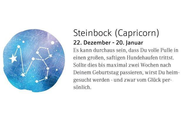 Horoskop Steinbock