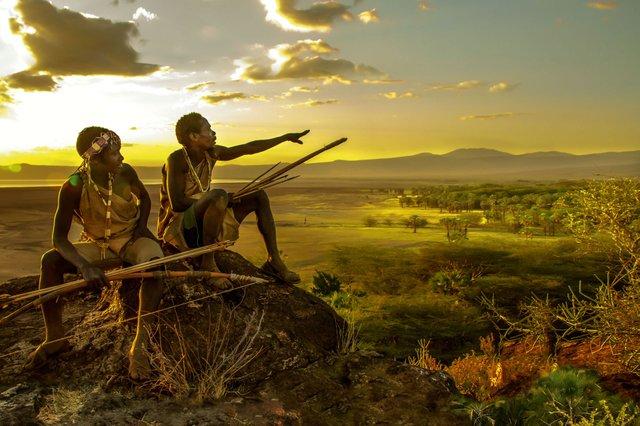 Afrikanische Dämmerung