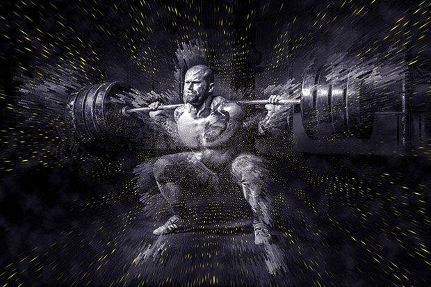 Gewichtheben Bodybuilding Fitness Stock