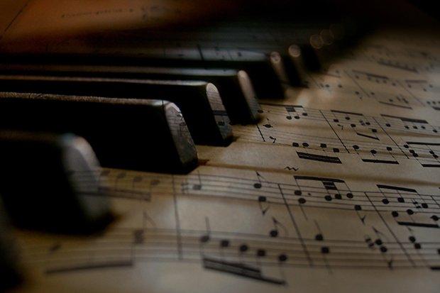 Musik Klavier Stock