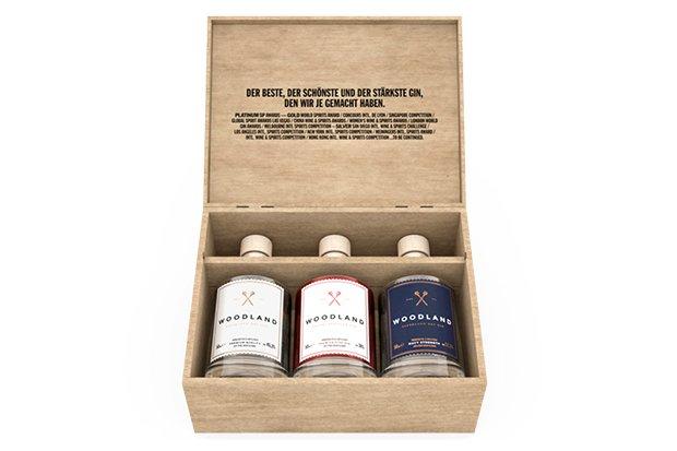 3x1 Woodland Gin Box