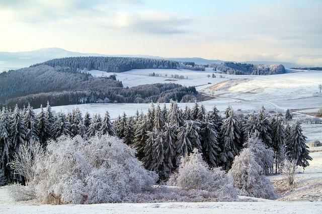 Wasserkuppe Rhön Winter Stock