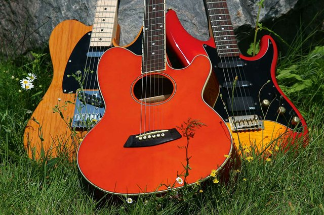 Gitarre, Stock