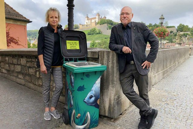 Graffiti Mülltonnen