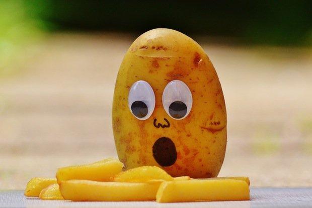 Kartoffel Pommes Food Essen Fastfood Stock