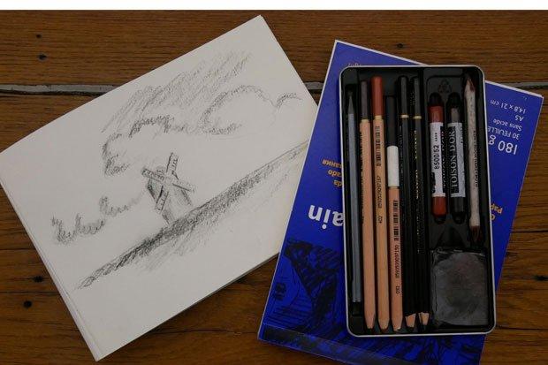 Freies Zeichnen im Museum im Kulturspeicher