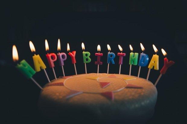 Bithday Geburtstag Feier Stock