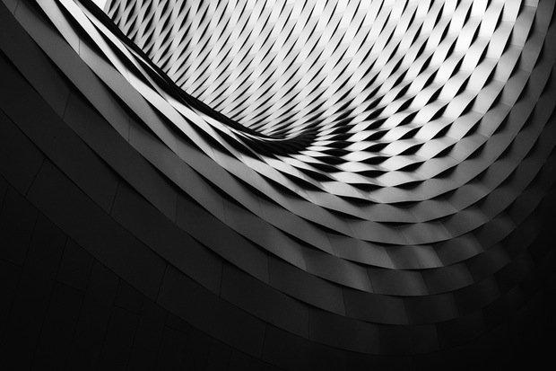 Schwarz Weiß Kunst Stock