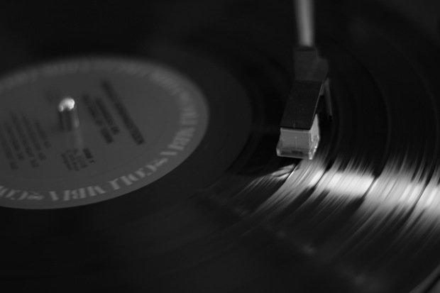 Platte Musik Dj Party Stock