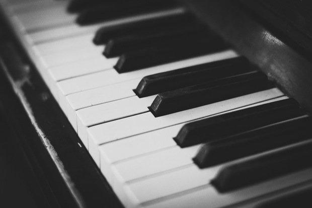 Klavier Piano Musik Stock