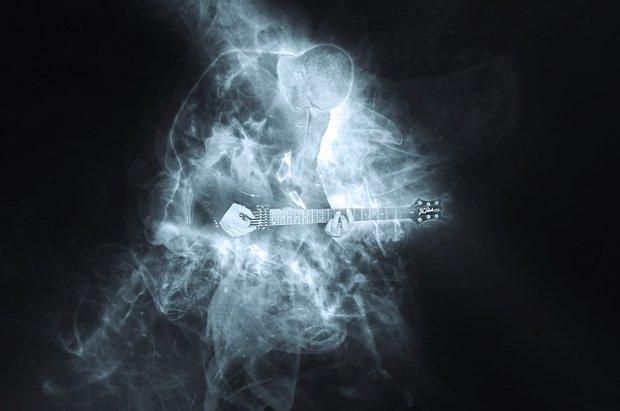 Gitarre Musik Rock Metal Stock