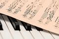 Musik Klassik Kammer Klavier Noten Stock