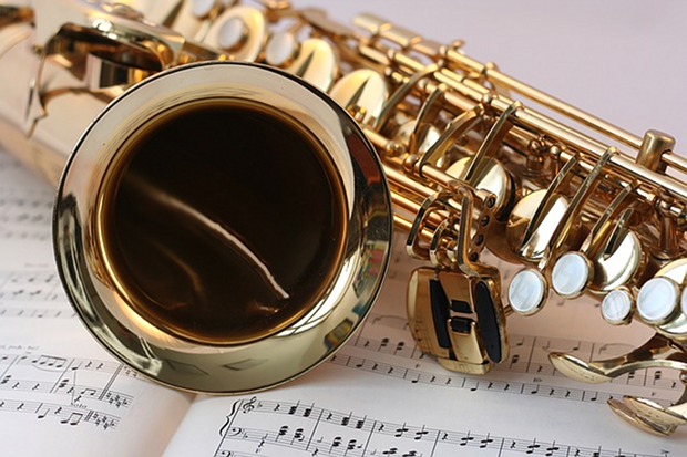 Saxophon Klassik Musik Stock