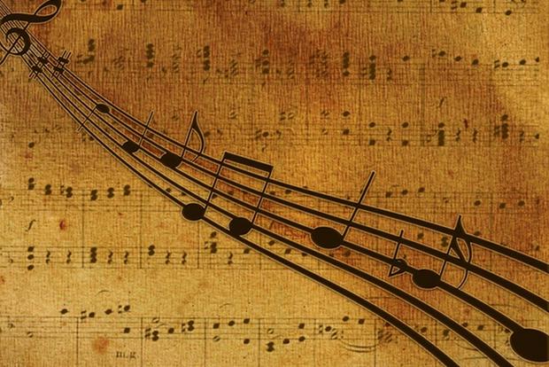 Klassik Musik Noten Stock