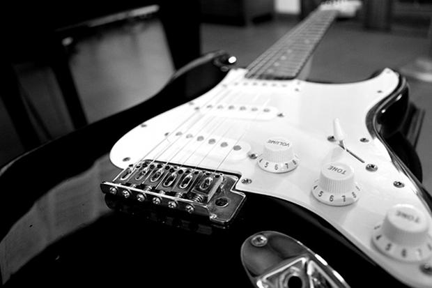 Rock Gitarre Musik Stock