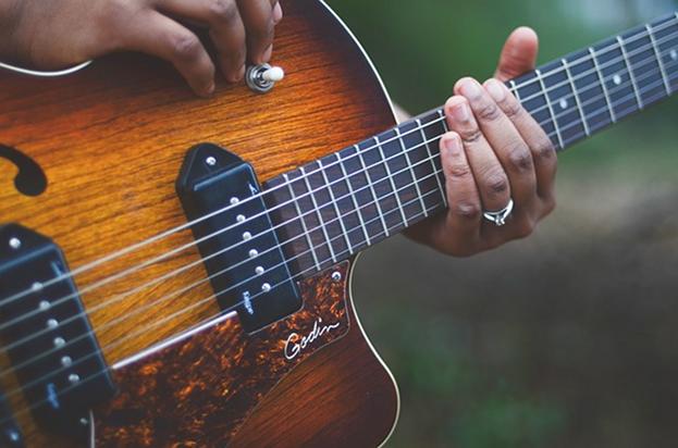 Musik Gitarre Stock