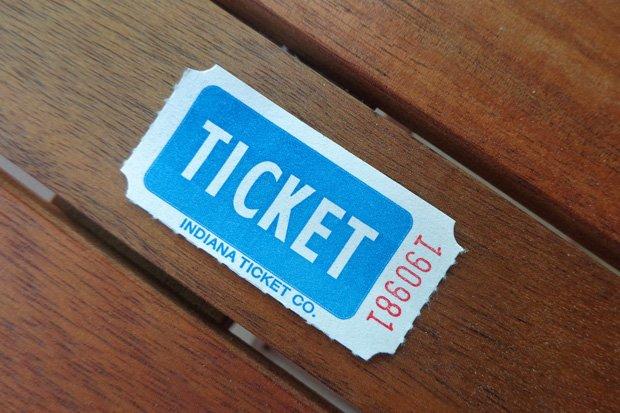 Ticket Verlosung Stock