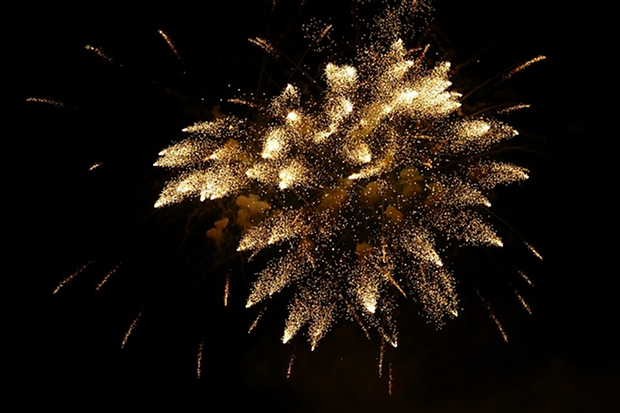 Feuerwerk Silvester Party Stock