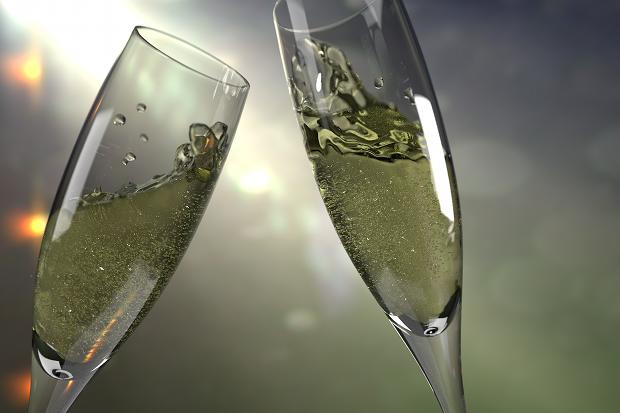 Sekt Drink Party Mädels Silvester Stock