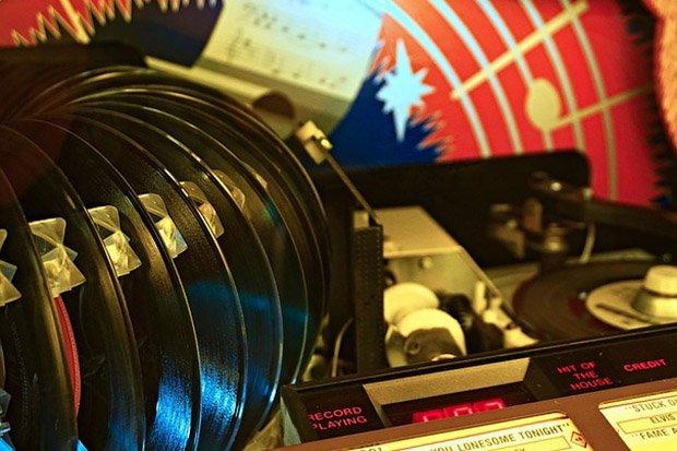 Jukebox Vinyl Oldies Stock