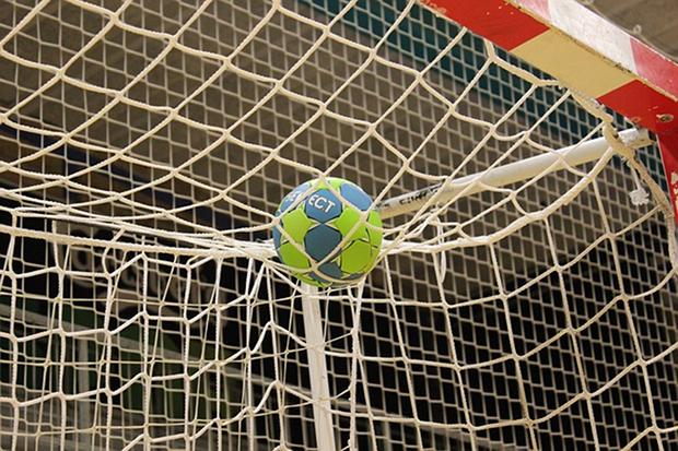Handball Tor Sport Stock